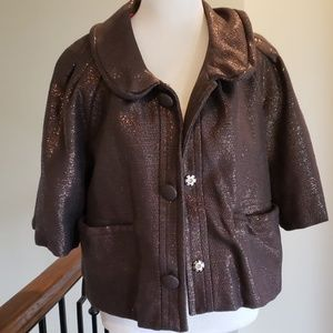 Like New Marc Jacobs shimmer short swing jacket